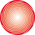 Single red spiral